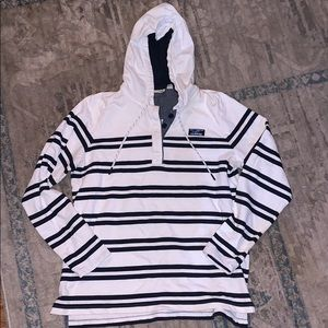 Ll. Bean buttoned pull over hoodie